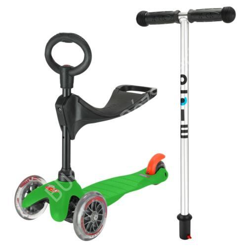 3in1 Mini Micro roller, zöld + 1990 Ft értékű ajándék Micro csengő BEMUTATÓ DARAB