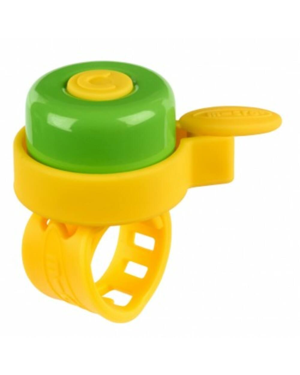 Micro roller csengő, sárga-zöld