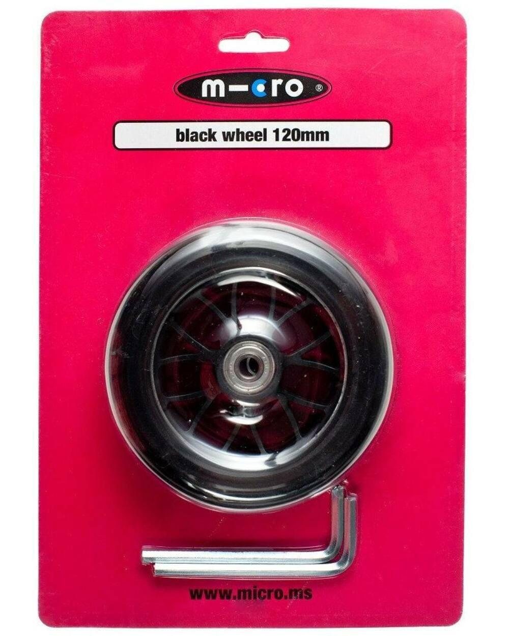 Maxi Micro roller első kerék, 120mm, fekete