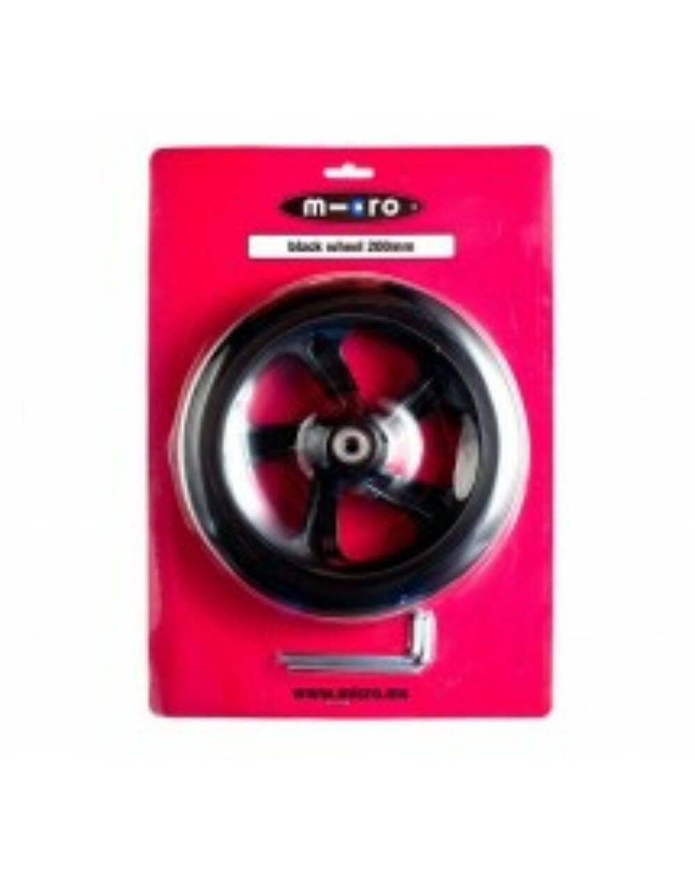 Micro roller kerék 200mm, fekete