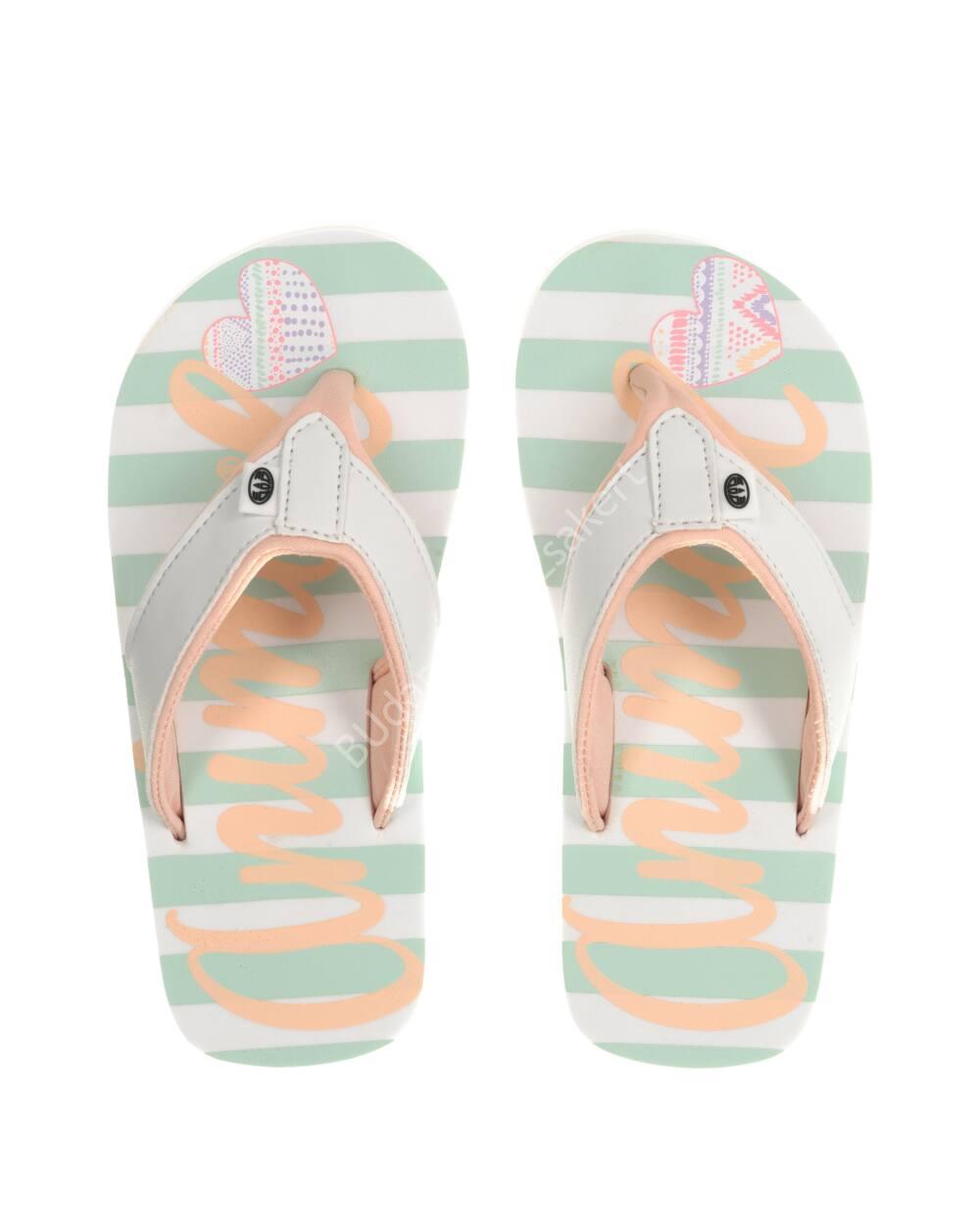 Animal Swish flip-flop papucs lányoknak, fehér