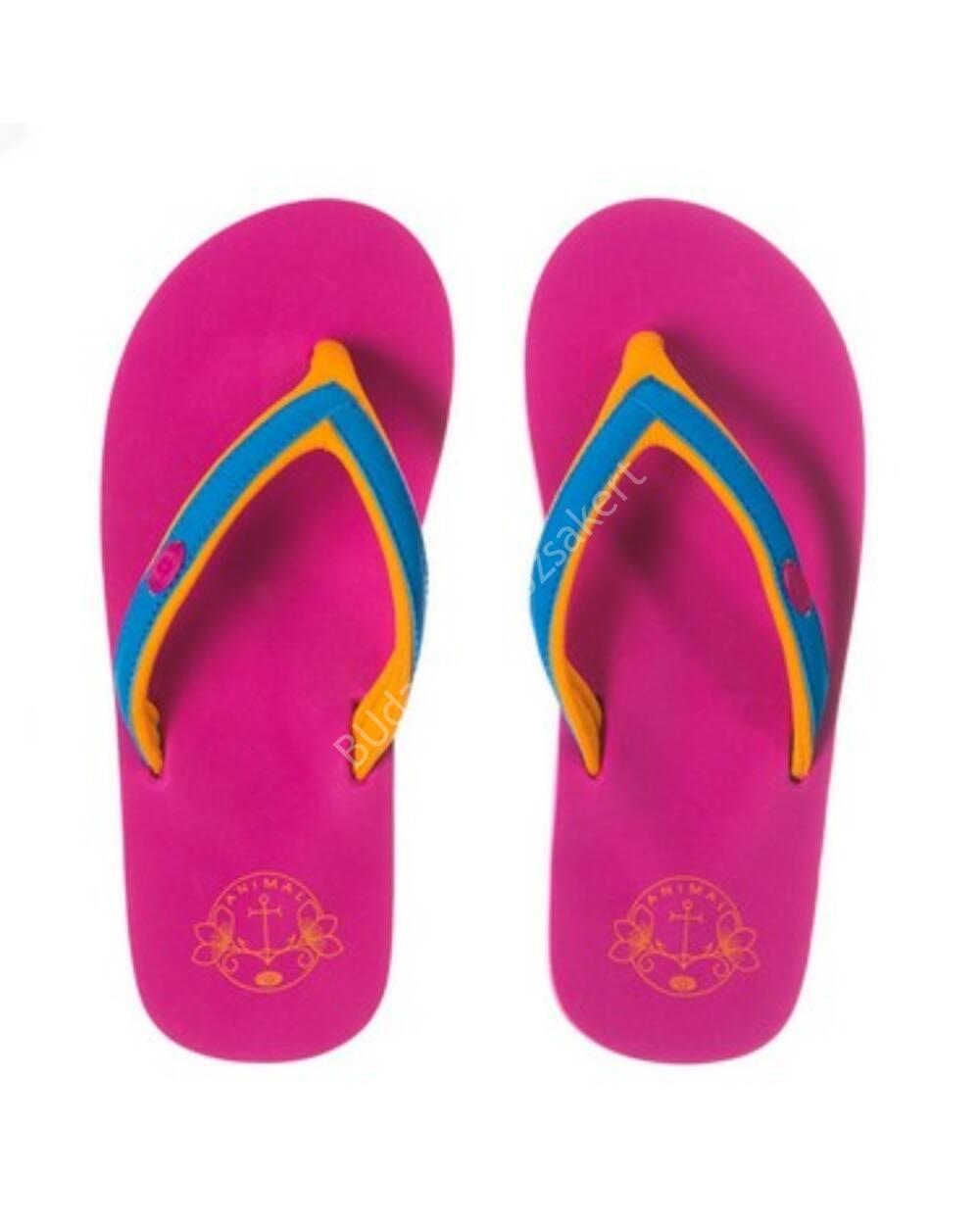 Animal flip-flop papucs nőknek, pink-narancs-kék