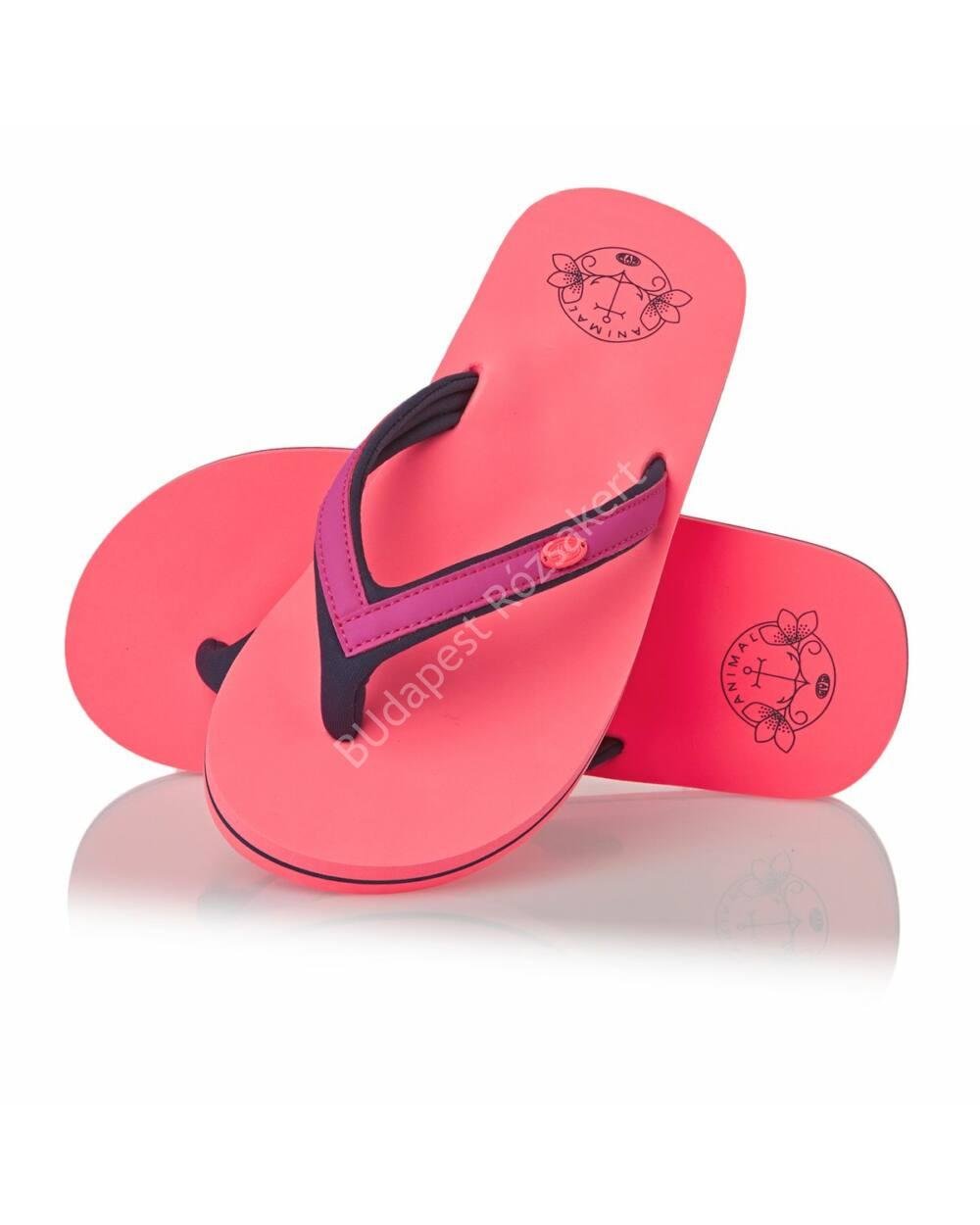 Animal flip-flop papucs nőknek, neonnarancs-pink, 38