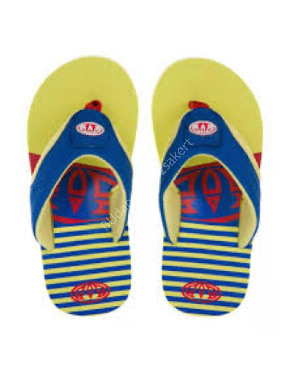Animal Jekyl flip-flop papucs gyerekeknek, sárga-kék