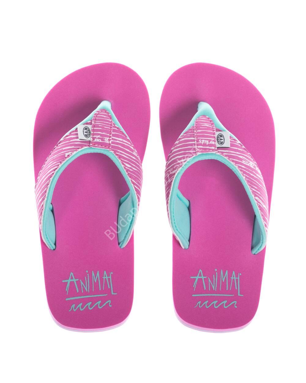 Animal Swish flip-flop papucs lányoknak, rózsaszín