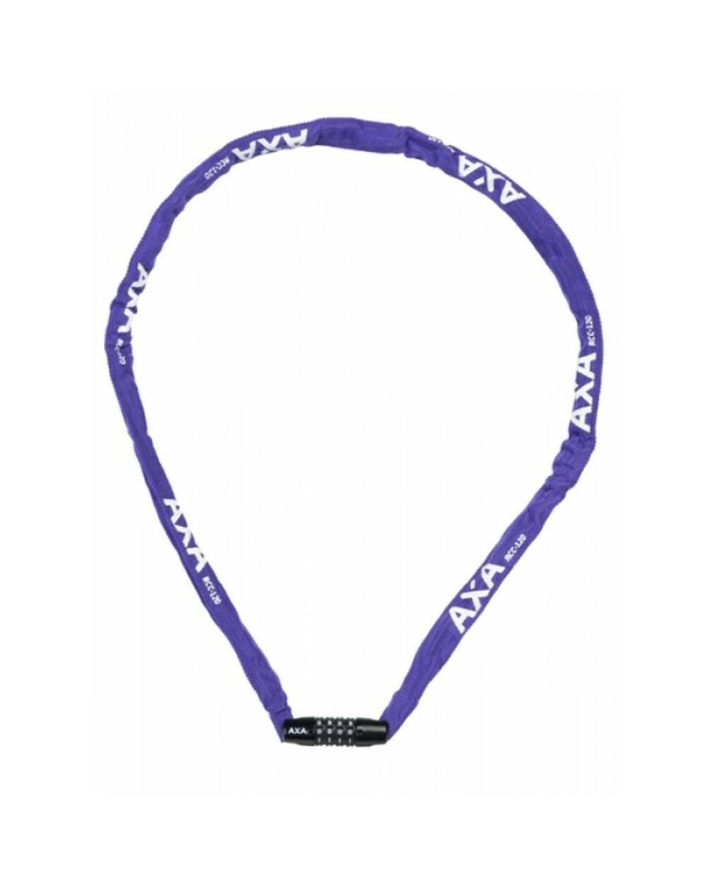 AXA Rigid RCC számkódos láncos kerékpár lakat 120cm, lila