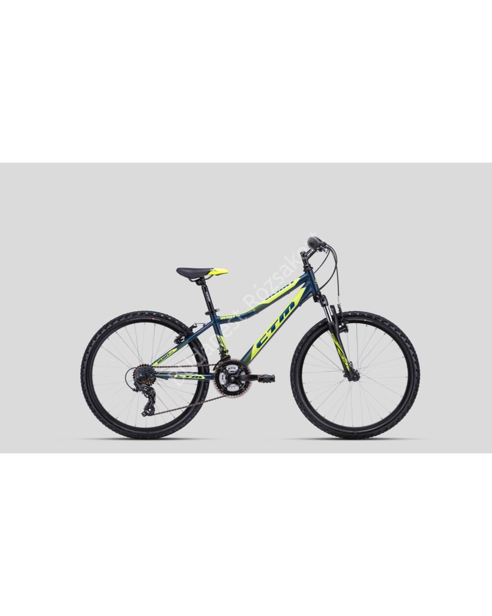 """CTM Berry 2.0 24"""" kerékpár matt petróleum-lime, 13.8 kg"""