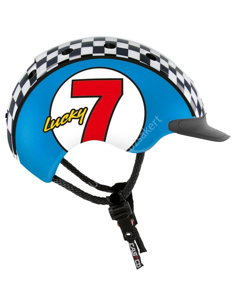 Casco Mini 2 Lucky 7 bukósisak, kék, 52-56cm