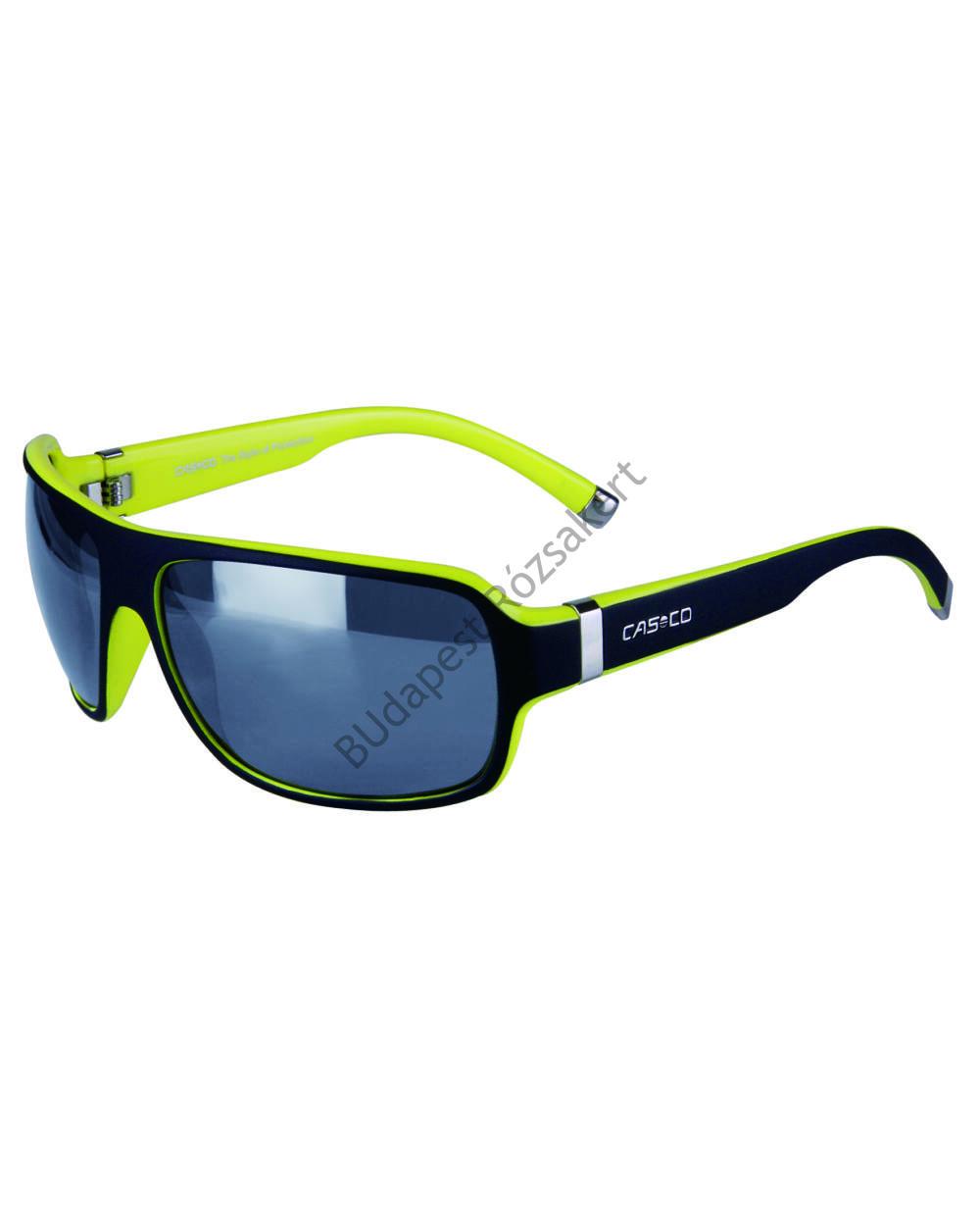 Casco SX-61 Carbonic Bicolor UV-védős sportszemüveg, fekete-neonsárga