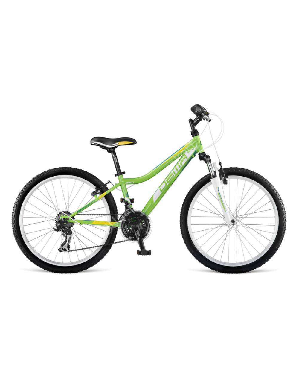 """DEMA Iseo 24"""" gyermek kerékpár, zöld-fehér 130-150cm testmagasság"""