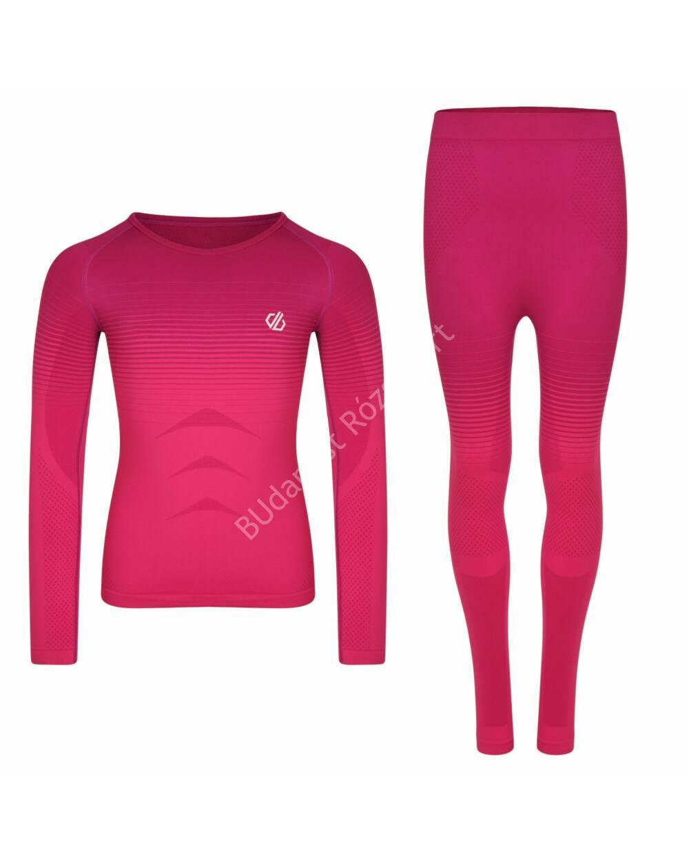 Dare2b In the Zone gyerek aláöltözet szett, cyber pink, 128-140 cm