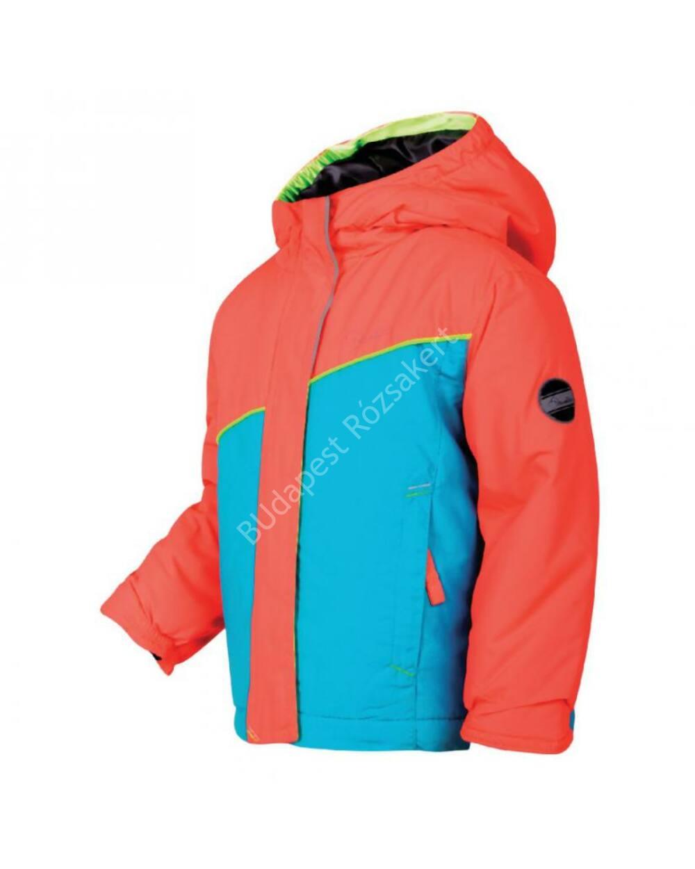 Dare2b Set About Jacket gyermek síkabát 5.000mm, aqua-fiery coral, 92