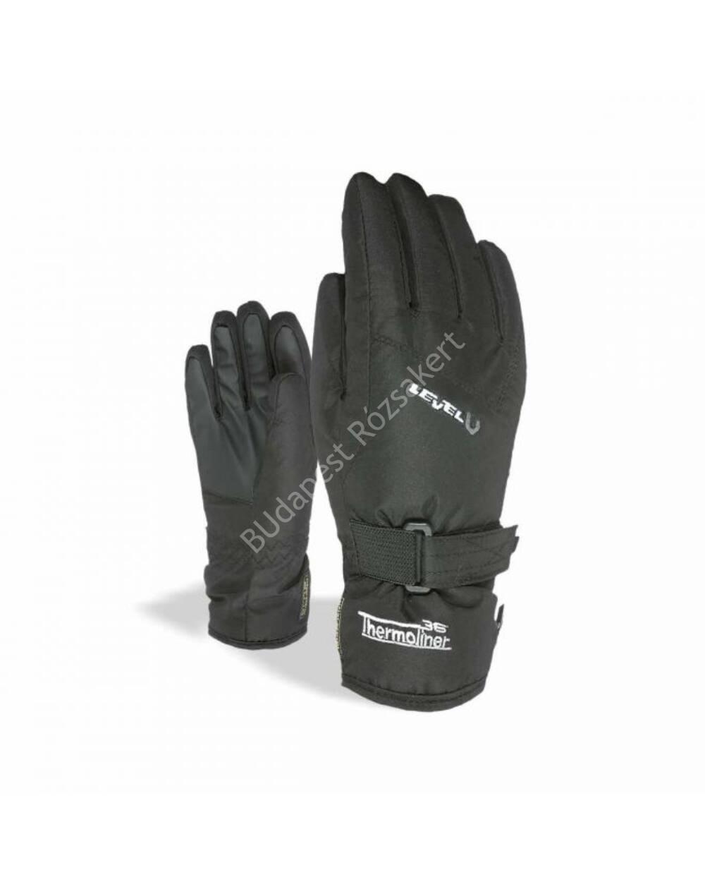 Level Glove junior síkesztyű, fekete, 5-6 éves
