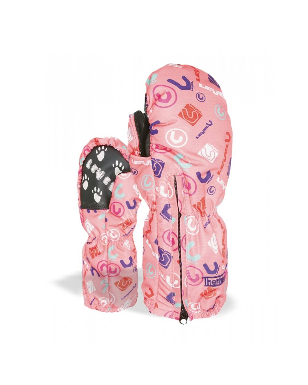 Level Glove Kiddy Mitt Logos gyerek egyujjas síkesztyű, korall, 4-5 éves
