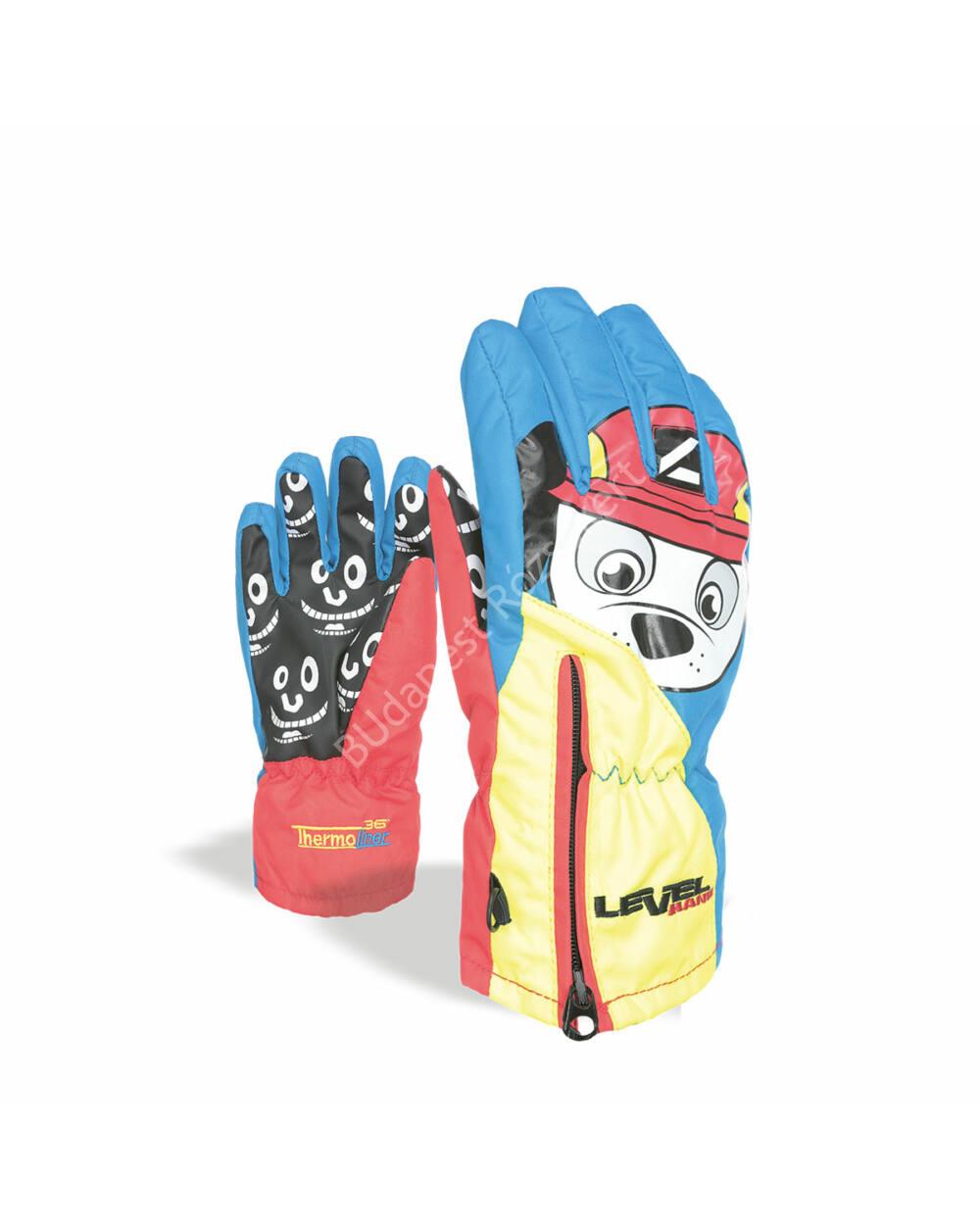 Level Glove Lucky gyerek síkesztyű, light blue, 4-5 éves