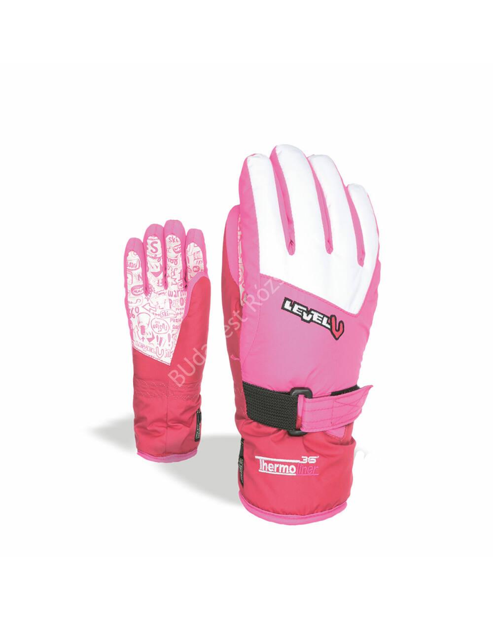 Level Glove Junior gyerek síkesztyű, purple, 5-6 éves