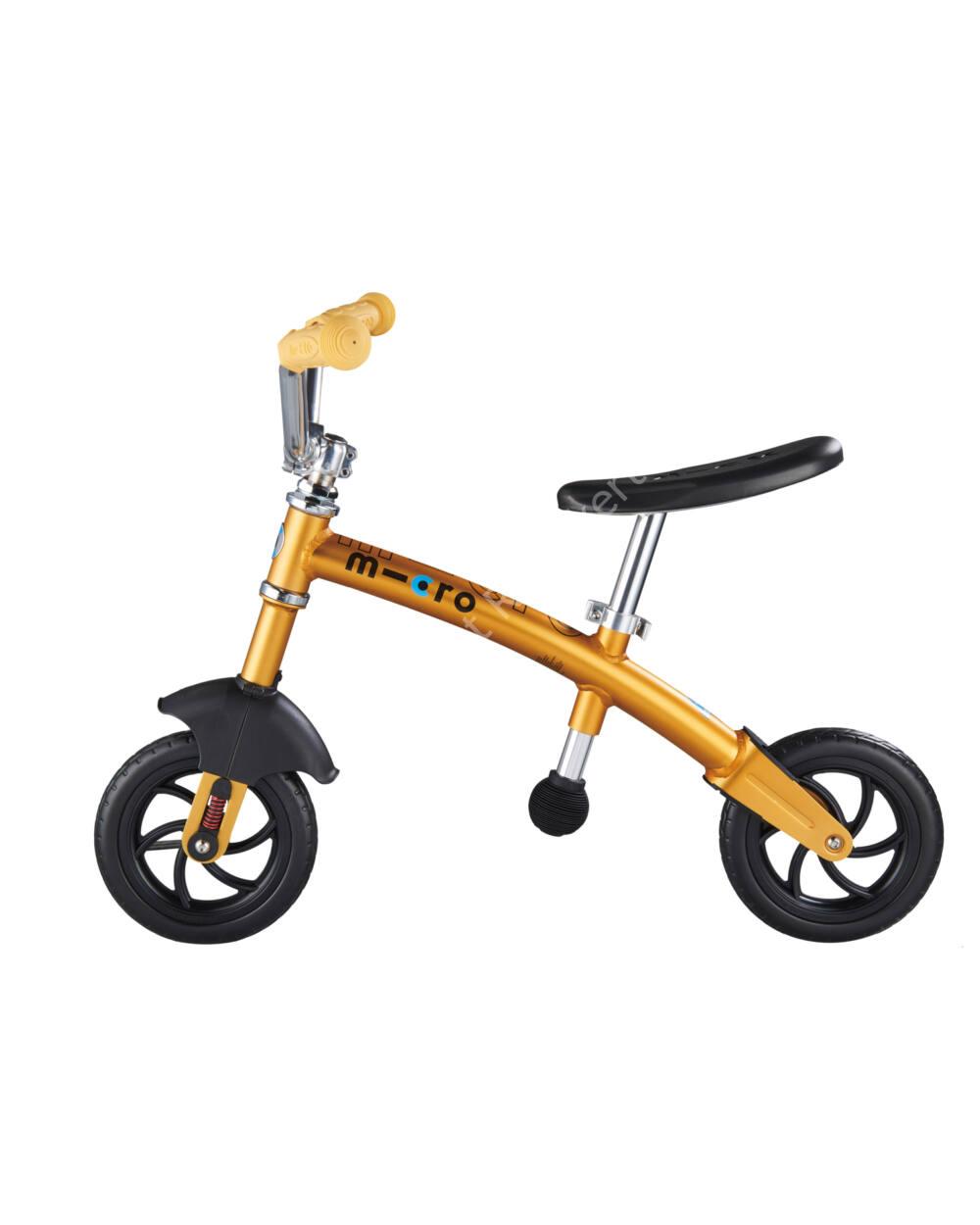 Micro 2in1 G-Bike Chopper Deluxe futóbicikli, sárga