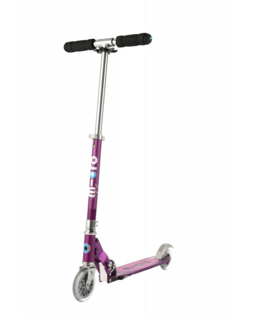Micro Sprite Special Edition roller, lila metál rózsaszín csíkokkal