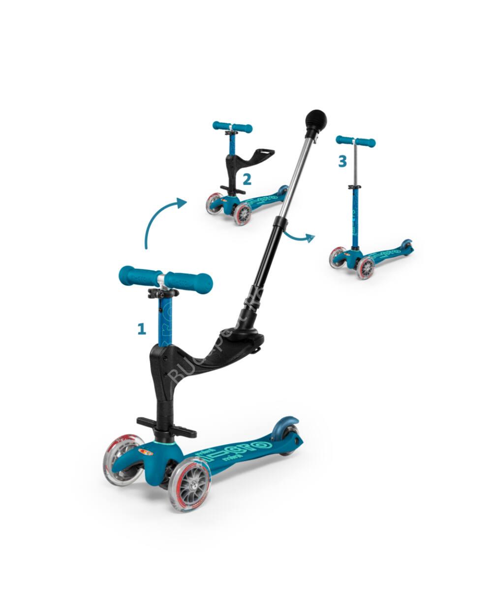 3in1 Mini Micro Deluxe Plus roller, jégkék