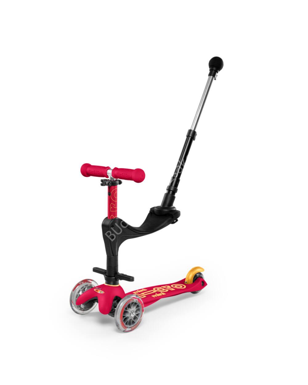 3in1 Mini Micro Deluxe Plus roller, bíborvörös-narancs