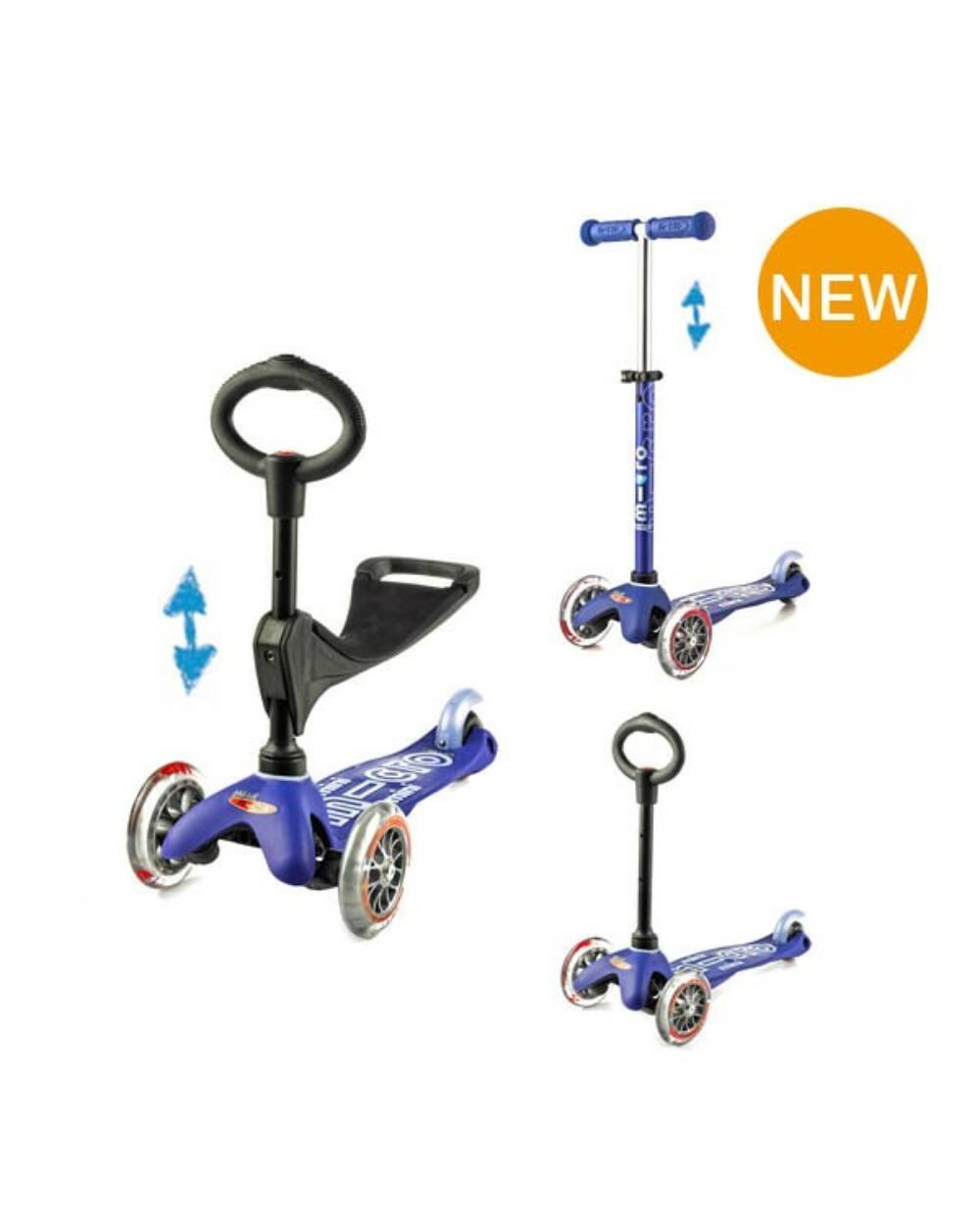 3in1 Mini Micro Deluxe roller, kék + ajándék Micro hátizsák kalózos 4.990 Ft értékben