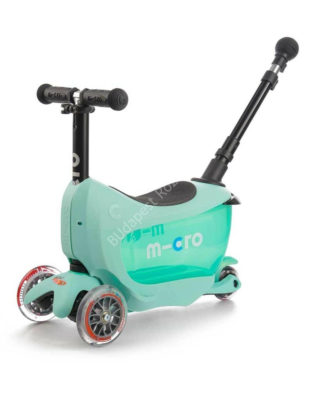 Micro Mini2go Deluxe Plus roller tologató rúddal, menta