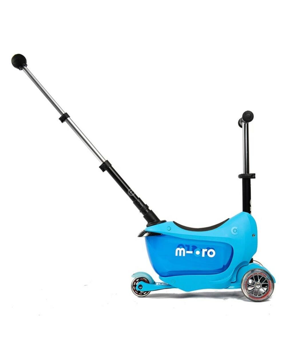 Micro Mini2go Deluxe Plus roller tologató rúddal, kék