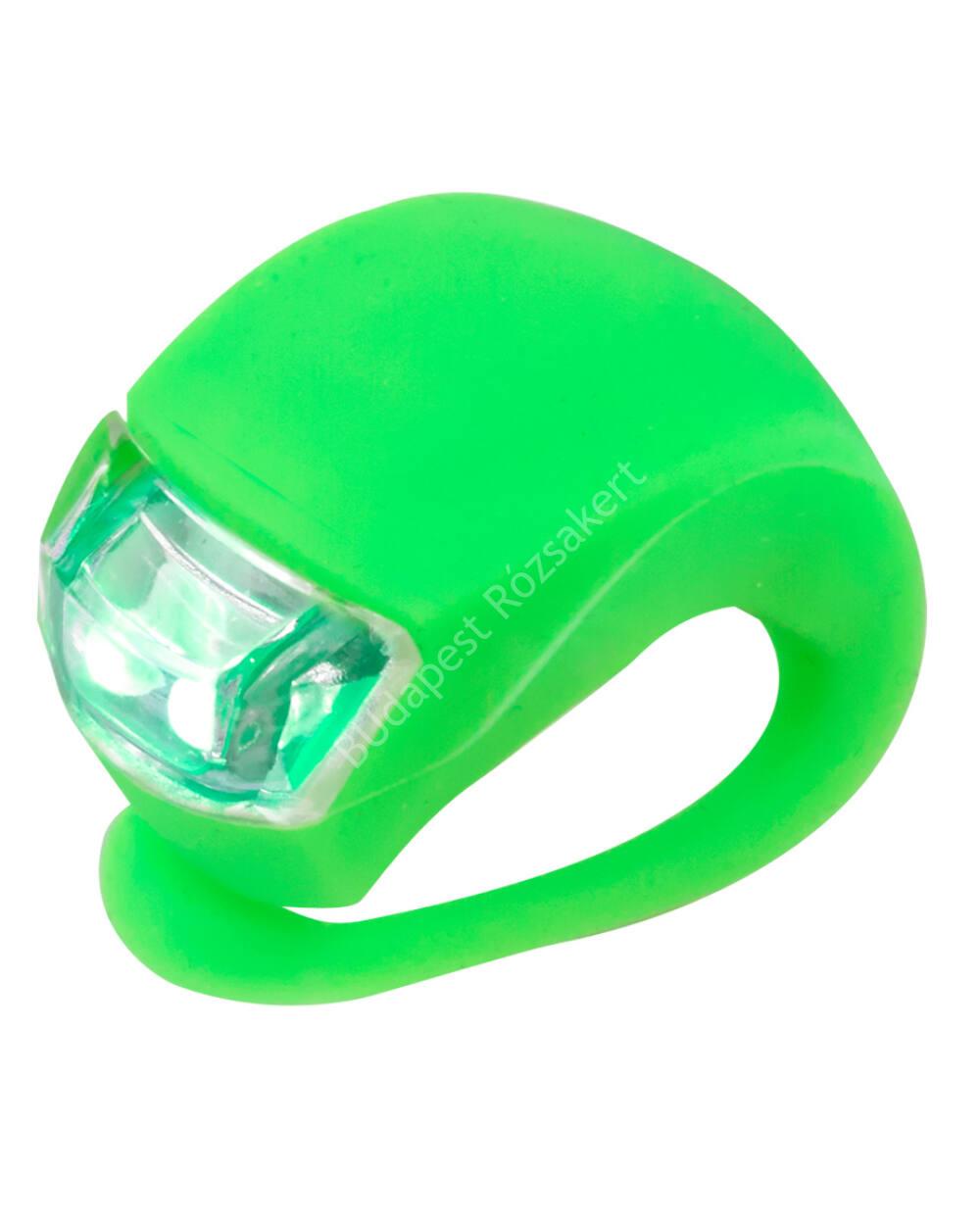 Micro szilikon első lámpa, neonzöld