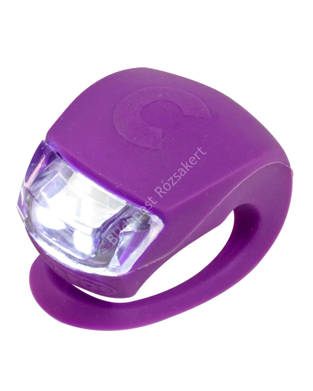 Micro szilikon első lámpa, lila