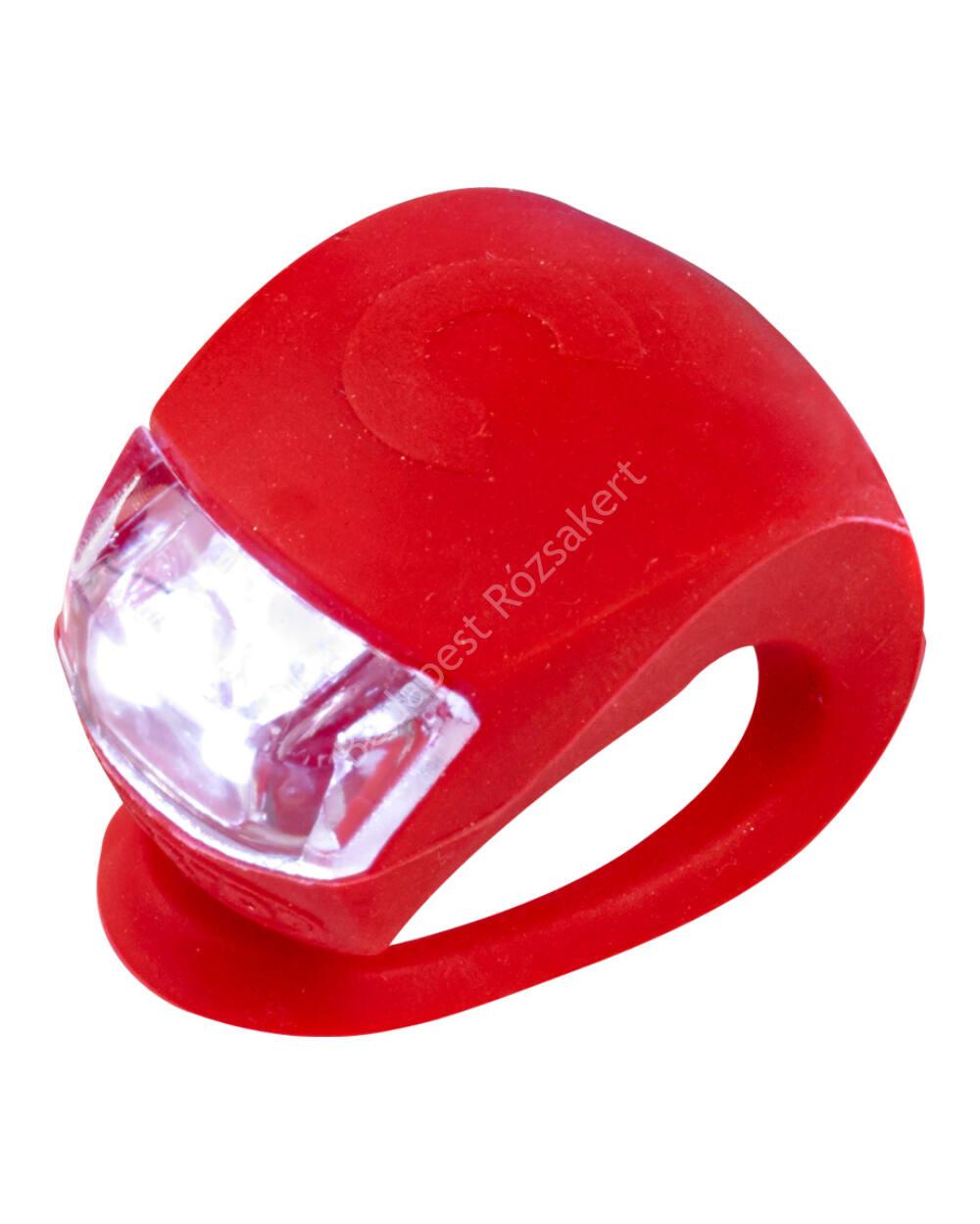 Micro szilikon első lámpa, piros