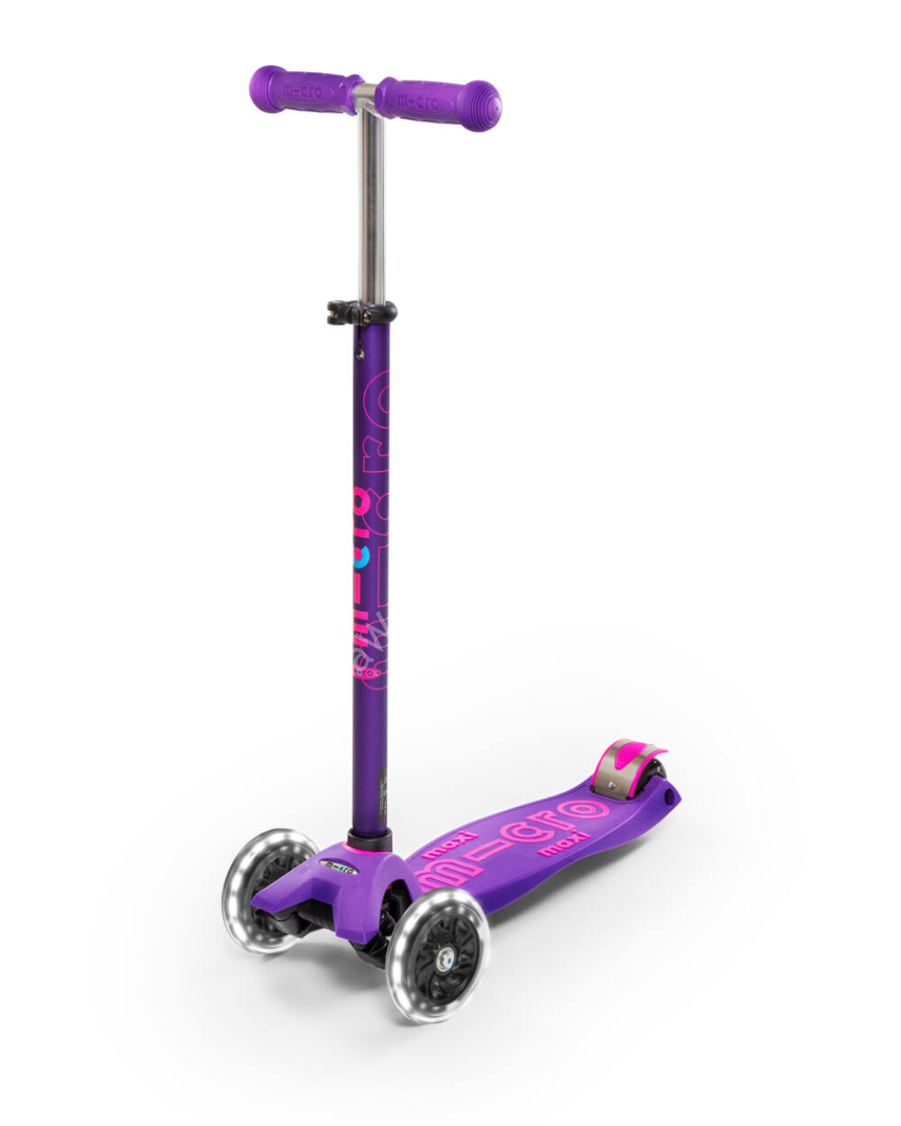 Maxi Micro Deluxe LED roller, lila