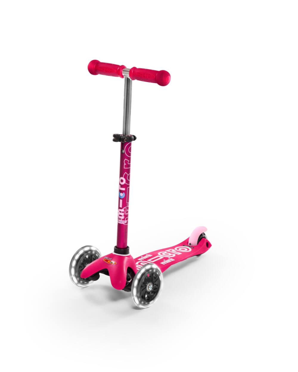 Mini Micro Deluxe LED roller világító kerékkel, pink