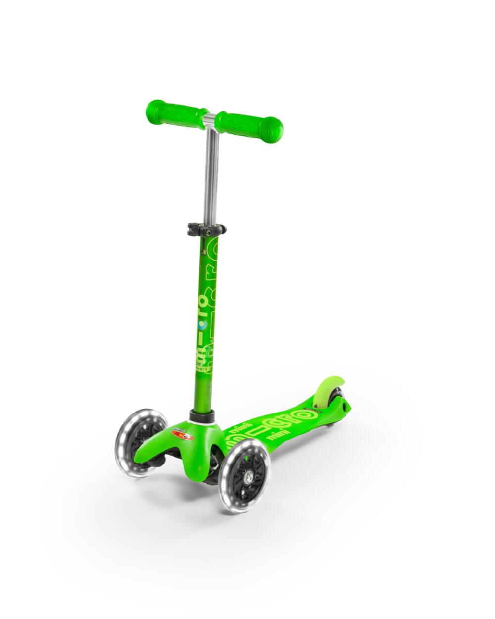 Mini Micro Deluxe LED roller világító kerékkel, zöld