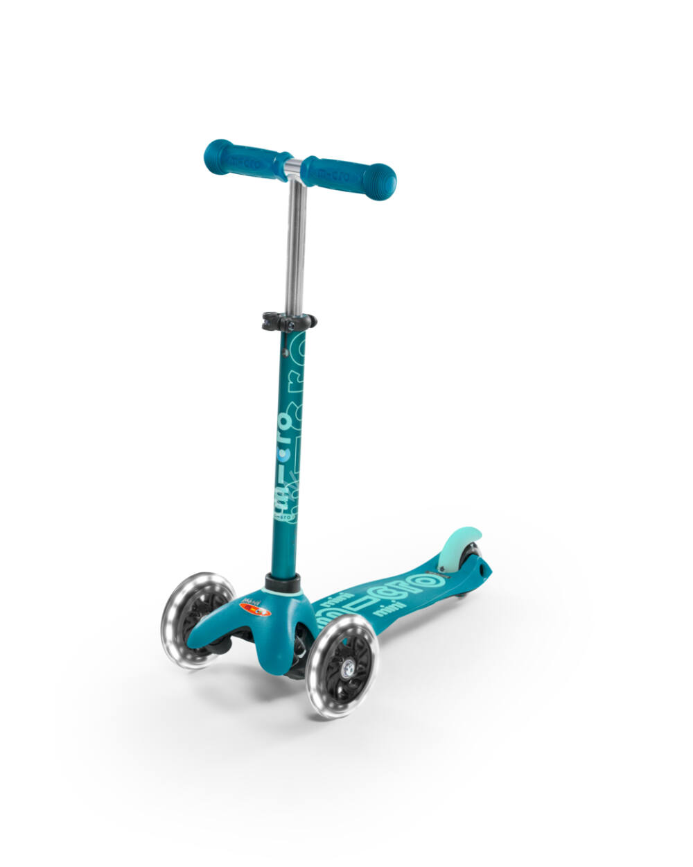 Mini Micro Deluxe LED roller világító kerékkel, aqua