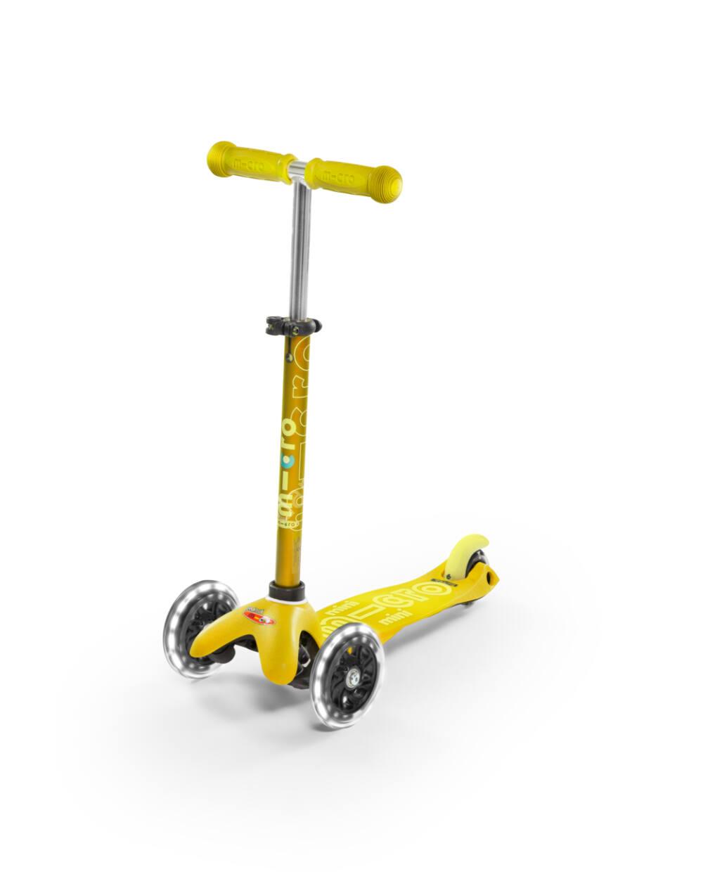 Mini Micro Deluxe LED roller világító kerékkel, sárga