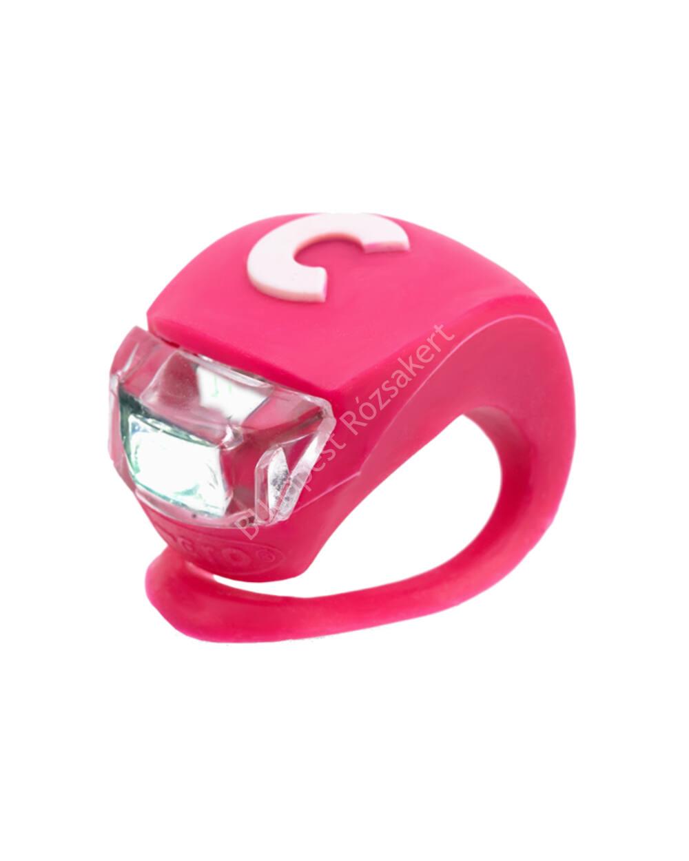 Micro szilikon első lámpa, pink