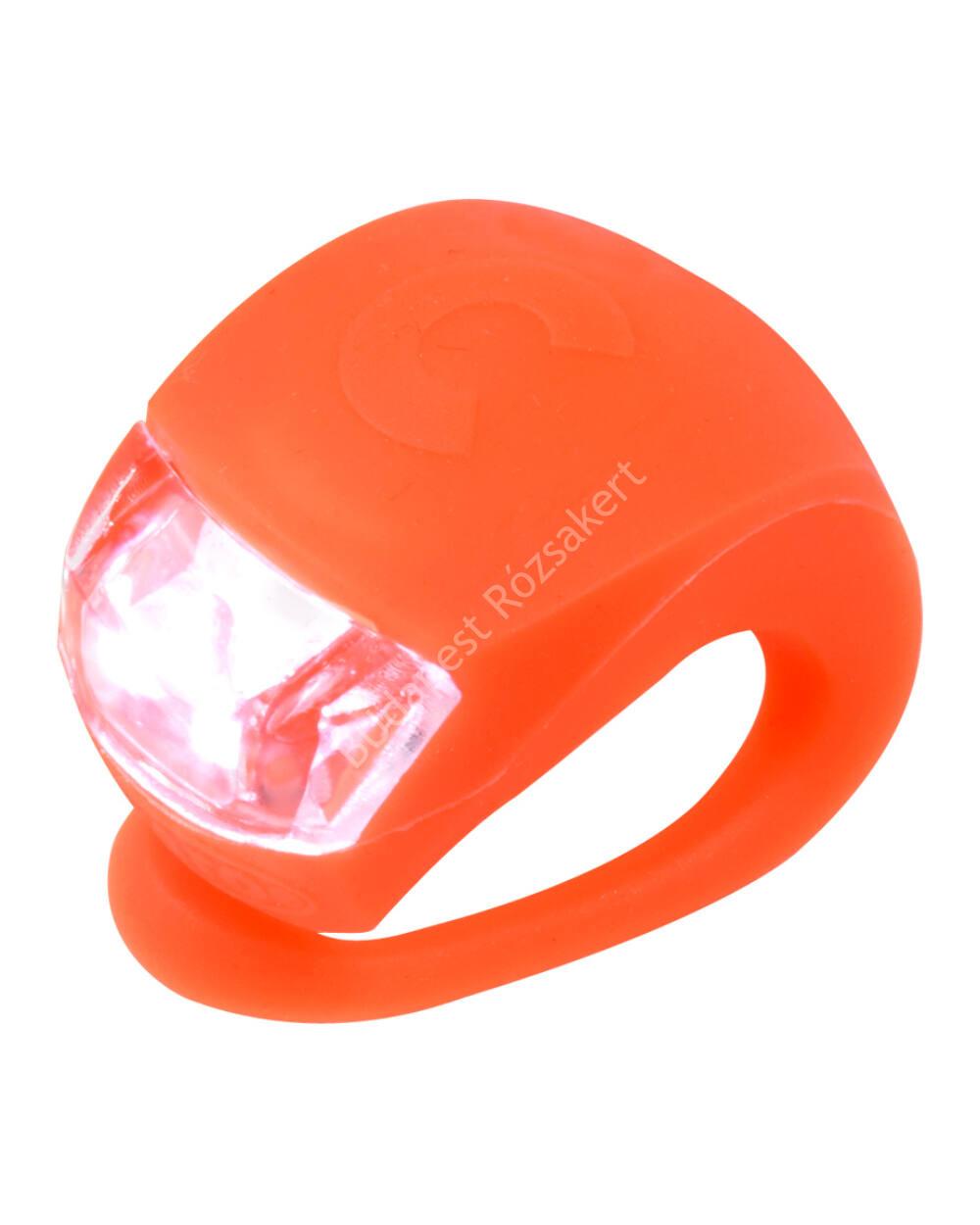 Micro szilikon első lámpa, narancssárga