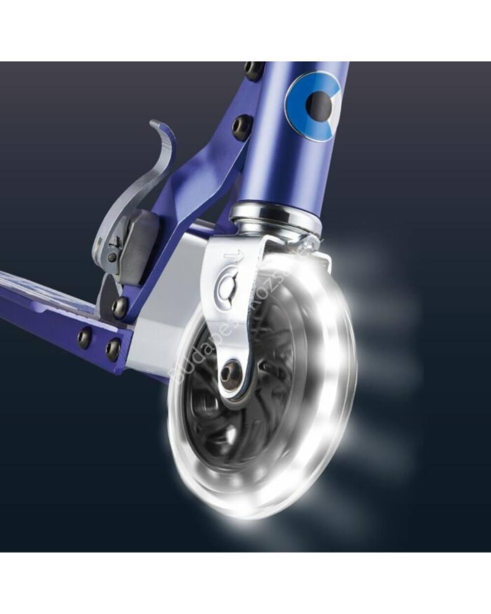 Micro Sprite LED világító első kerekű roller, zafírkék
