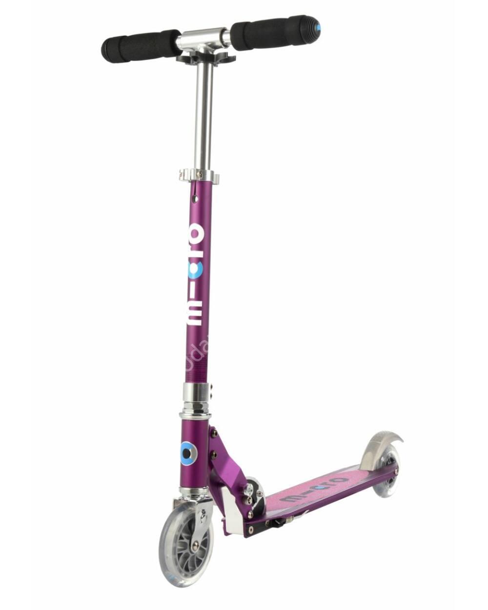 Micro Sprite LED roller, lila metál rózsaszín csíkokkal