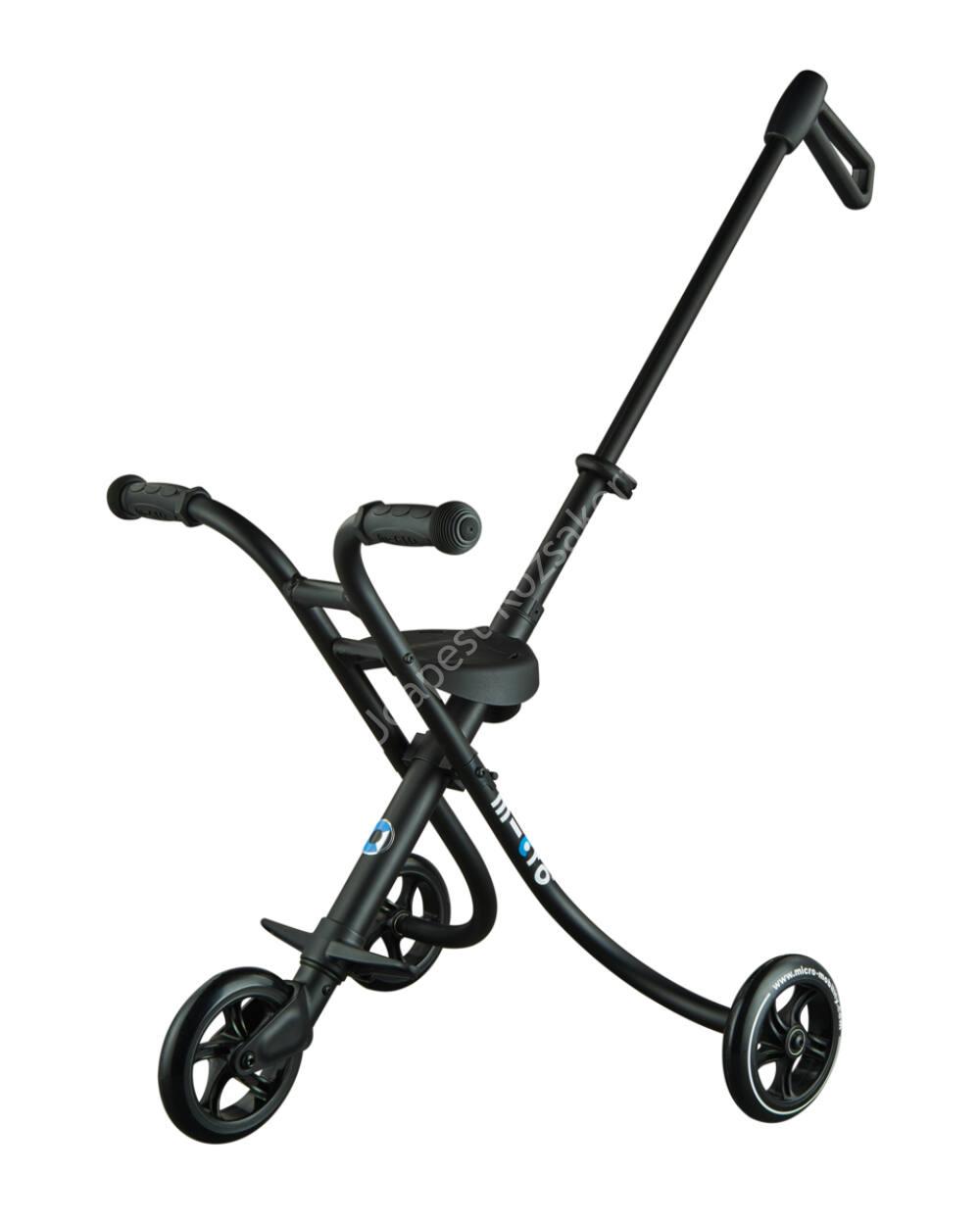 Micro Trike XL háromkerekű, tologatható tricikli, fekete
