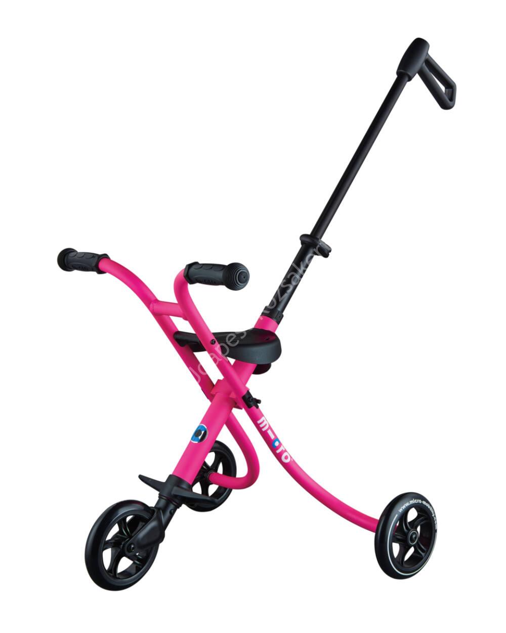Micro Trike XL háromkerekű, tologatható tricikli, shocking pink