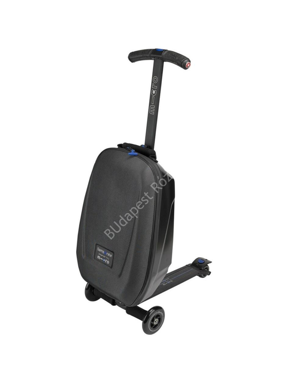 Micro Luggage II 3in1 Bőrönd roller, fekete, BEMUTATÓ DARAB