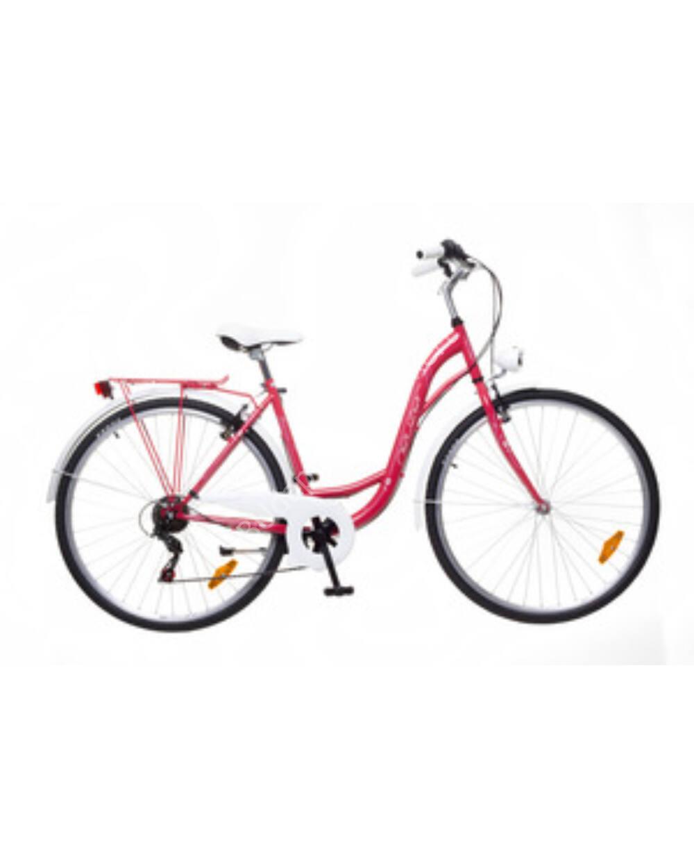 """Neuzer Ravenna 6 Plus piros 19"""" női városi kerékpár"""