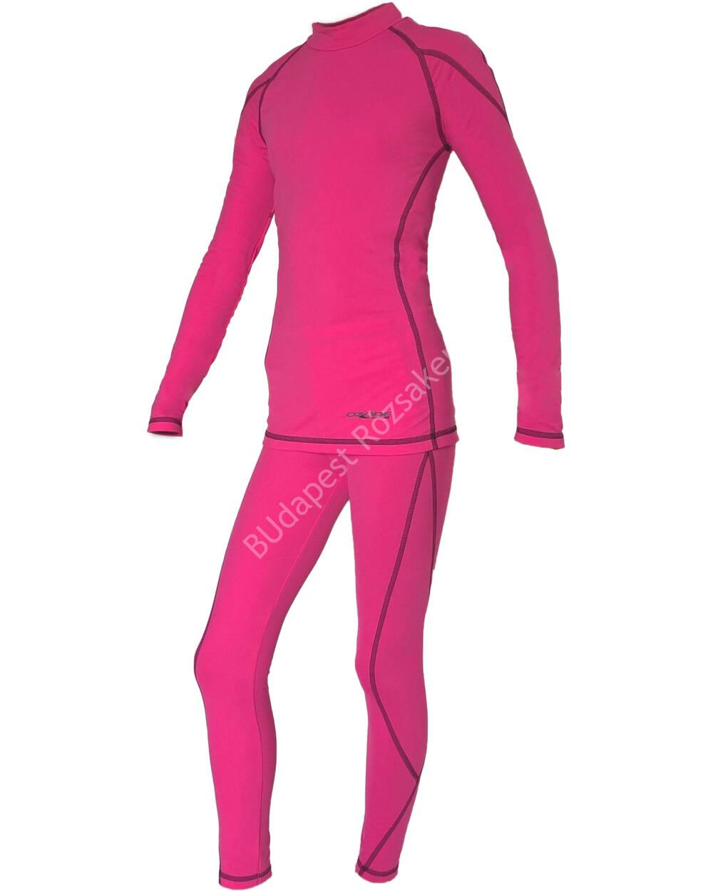 Ozone gyermek téli aláöltözet szett, pink-fehér, 140
