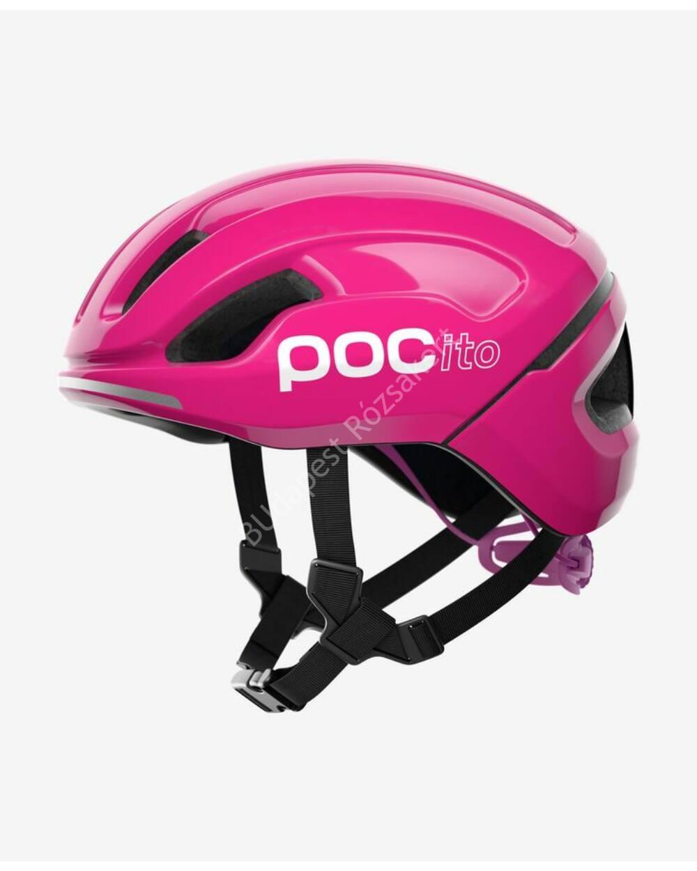 POC Pocito Omne Spin fluorescent pink bukósisak, 48-52 cm