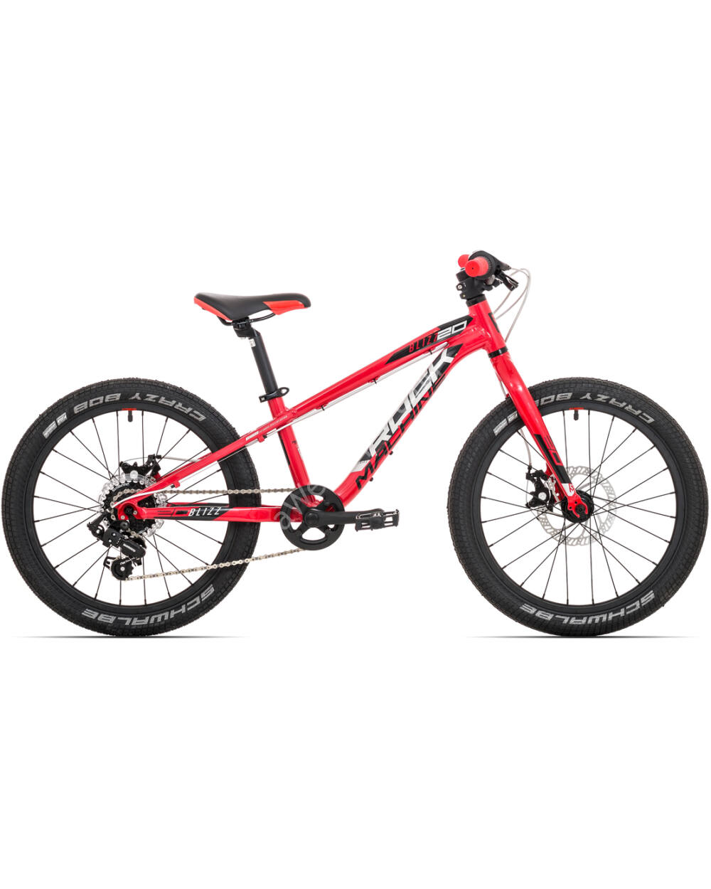 "Rock Machine Blizz 20"" ALU 7S, gloss dark red-black, 9.8kg, 110 cm-től"