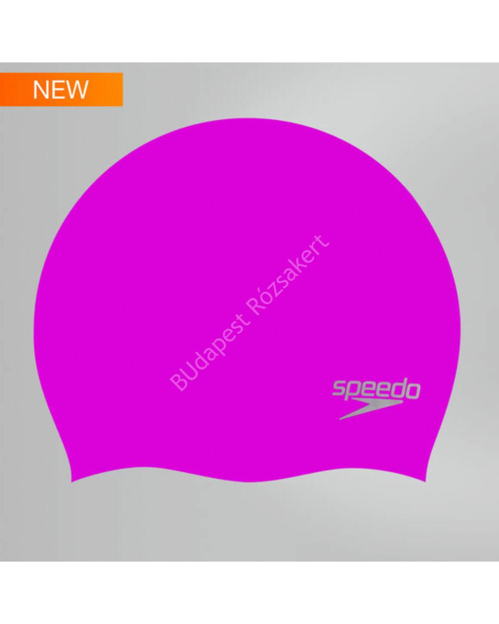 Speedo Plain Moulded Silicone Cap úszósapka, lila