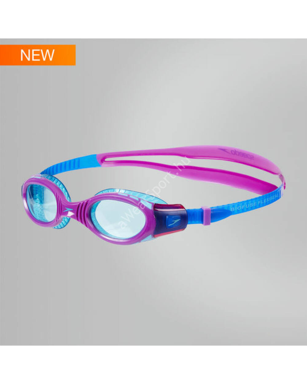 Speedo Futura Biofuse Flexiseal Junior úszószemüveg 6-14 éves, lila-kék