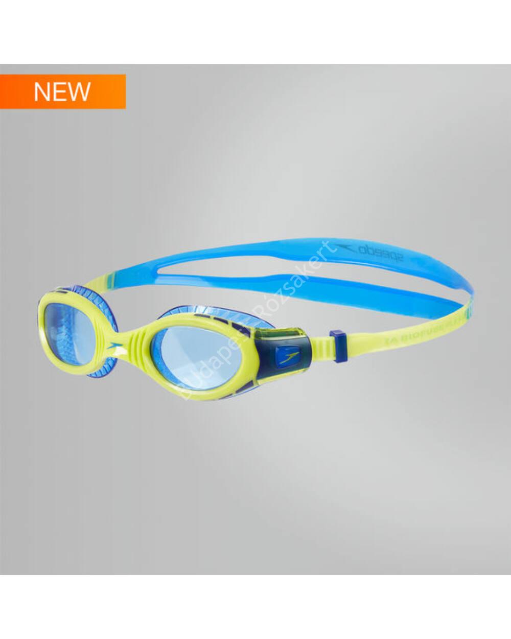 Speedo Futura Biofuse Flexiseal Junior úszószemüveg 6-14 éves, neonzöld-kék