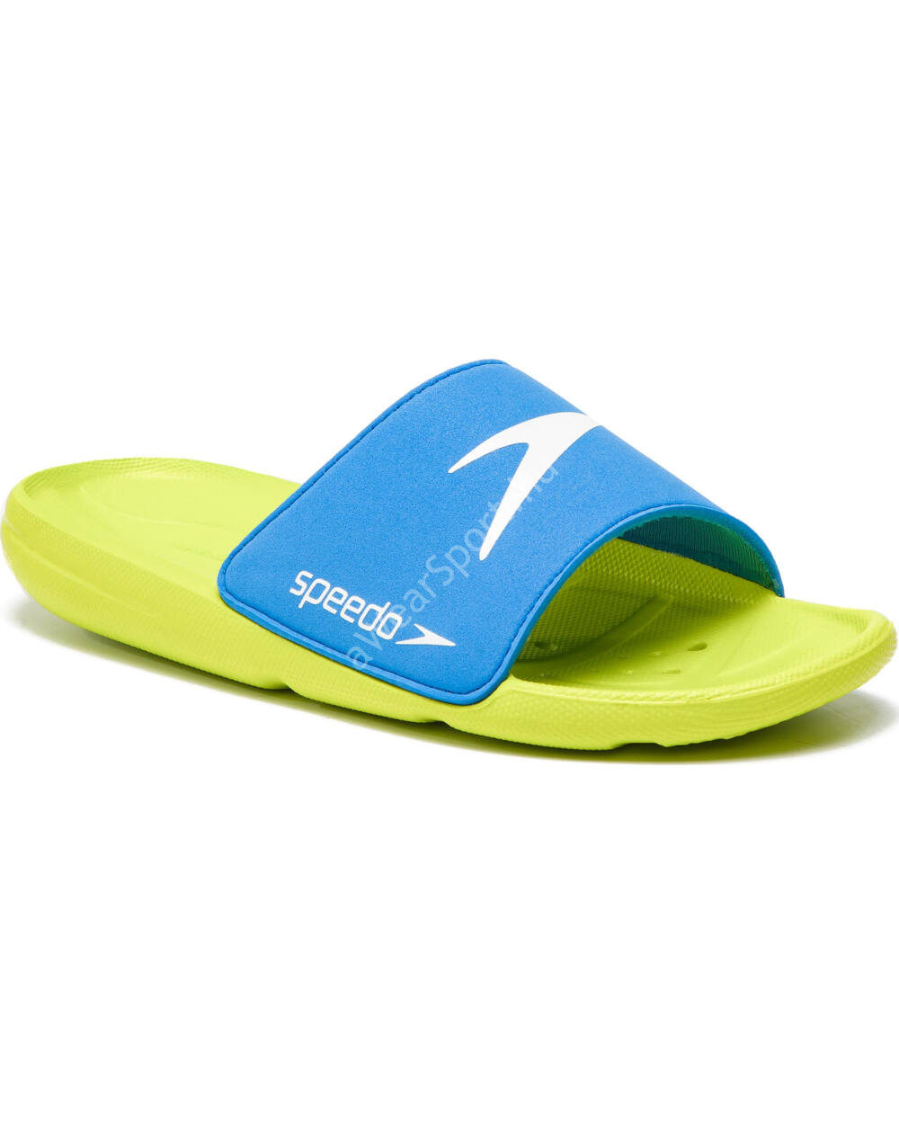 Speedo Atami Core Slide gyerek papucs, neonzöld-kék, 35.5